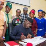 Fayemi signs executive order for free education in Ekiti