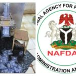 """NAFDAC seals """"Puer water"""" factory for producing without treatment, near toilet, drainage"""