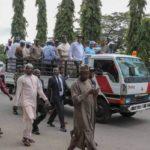 Osun Election: Saraki leads PDP protest to INEC Secretariat (PHOTOS)