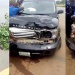 Young boy without driver's licence knocks down lady in Abuja (Photos)