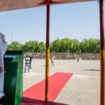 What Buhari told soldiers in Maiduguri