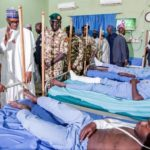 Boko Haram: Buhari visits injured soldiers in Borno [PHOTOS]