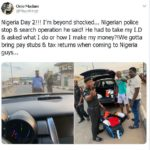 Nigerian man living abroad is left in unbelief after police stopped him and searched his bags when he visited Lagos