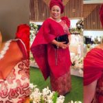 Veteran Actress, Sola Sobowale dazzles in modern red iro and buba (PHOTOS)