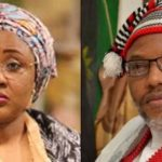 Nnamdi Kanu reveals how Aisha Buhari admitted her husband is dead, names people who brought Jubril