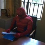 ASUU Strike: Lecturer disguises as Spiderman To Attend To Students (photos & video)