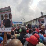 2019: Peter Obi storms Lagos; markets shut as crowds receive him (Photos & Video)