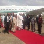 Buhari arrives Abakaliki amidst rousing welcome