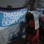 Protest Rocks Lagos Over Obasanjo's Alleged Plan To install Interim Govt (PHOTOS)
