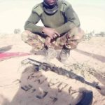 Gallant Nigerian Soldier At The Battlefield Professes Love For Wife With Bullets.
