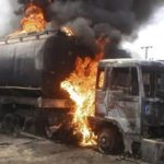 JUST IN: NNPC Petrol Tanker On Fire In Ogudu, Lagos