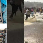 VIDEO: Angry Youths Destroy APC Campaign Rice In Ekiti State