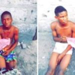 PHOTOS: 2 Teenage Boys Stripped By Residents After Being Caught Stealing Panties In Lagos