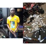 Charms, Weapons Recovered From Notorious Thug After Arrest In Lagos (Photos)