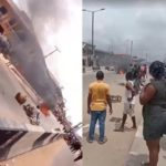 Nobody was burnt in Okota.. But an OPC leader was brutally stoned (video)