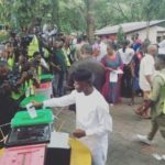 Osinbajo and wife cast their votes in Lagos (Photos)