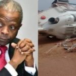 BREAKING: Helicopter carrying Osinbajo crash lands in Kogi state (photos & video)