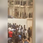 Masked Policemen Surround Venue Of PDP Leaders In Kogi (Photos & Video)