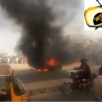 Elections; Angry Mob Sets Ablaze Car-laden With Weapons, Kills Suspect (Photos & Video)
