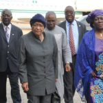 Ex-Liberian President Sirleaf Johnson Arrives Nigeria Ahead Of Elections