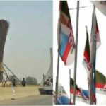 Nigerians react as APC erects giant broom at Abuja city gate