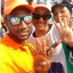Picture Of Zahra And Yusuf Buhari Campaigning For PMB