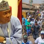 Aide reacts as crowd calls Bukola Saraki thief in Kwara (VIDEO)