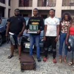 6 yahoo boys and girls arrested with bullets in Port Harcourt, three exotic cars recovered (PHOTOS)