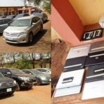 EFCC arrests 13 suspected 'Yahoo boys', Toyota and Mercedes benz cars recovered from them.(PHOTOS)