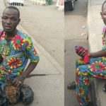 Man caught hawking weed in Lagos as #NigeriaDecides (Photos)