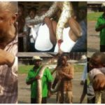 Residents celebrate after killing 12-foot long python terrorizing them in Delta state (PHOTOS)