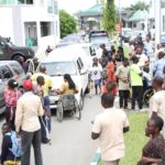 Physically Challenged Persons Block Government House During Massive Protest In Bayelsa (Photos)