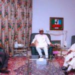 President Buhari Meets With Tinubu, Akande (Photos)