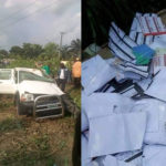 Photos: INEC Vehicle Reportedly Involved In A Crash In Accident In Akwa Ibom
