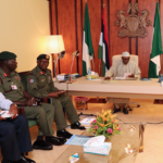 Buhari Meets Service Chiefs In Aso Rock