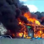 Bus Full Of School Children Set Ablaze By Angry Driver In Retaliation For Migrant Drownings In Mediterranean