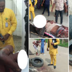 Man Accused Of Stealing Phone Inside Church Beaten To Pulp, Almost Burnt Alive In Calabar (Photos)