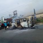 18 Seater Bus Conveying School Children Goes Up In Flames In Bayelsa (PHOTOS)