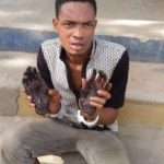 Man Nabbed With 2 Human Hands In Ekiti After Robbers Wrote Letter To Residents (Video)