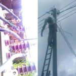 Man Electrocuted  On Electric Pole In Rivers