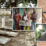 Bricklayer Caught Exhuming, Stealing Human Parts Inside Church's Cemetery In Ogun State; Over 35 Bodies Missing (photos)