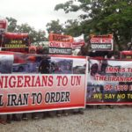 IMN: Anti-Terrorism Coalition Takes Protest To UN House, Wants El-Zakzaky, Iran Sanctioned For Terrorism