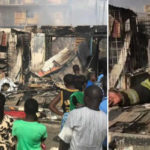 Lagosians Lost Millions Of Goods As Fire Outbreak Consume Multiple Shops In Ogba (Photos)