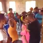 Video: Pastor Kissed Lady In Front Of His Congregation In Attempt To Cleanse Her Of Evil Spirit