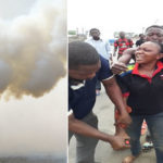 Policewoman Claiming 'Staff' Refuses To Pay N300 Fare, Assaults Conductor, Fires Teargas Inside Bus
