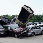 Hundreds of new cars destroyed by tornadoes at a Toyota dealership in U.S (Photos)
