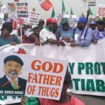 NLC Protest Against Minister Of Labour, Chris Ngige (Photos)
