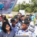 Dr. Okei-Odumakin Leads Protest Against The Detention of Mother, 9months Old Son By Police