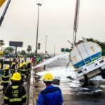 Petrol Tanker, Truck Collide On Lagos-Ibadan Expressway (photos)