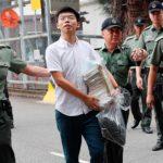 Hong Kong: Activist Joshua Wong freed from jail to join mass protest